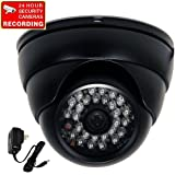 "VideoSecu 700TVL Day Night Outdoor Security Camera Vandal Proof Built-in 1/3"" SONY Effio CCD Wide View Angle Lens 28 Infrared LEDs for CCTV DVR Home Surveillance with Bonus Power Supply 1PA"