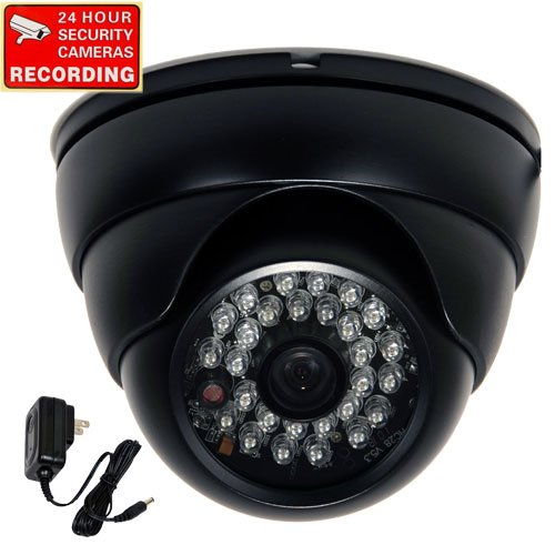 VideoSecu 700TVL Day Night Outdoor Security Camera Vandal Proof Built-in 1/3