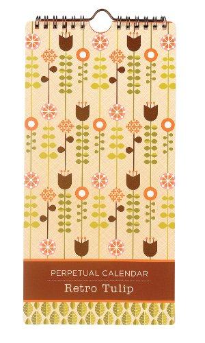 Retro Tulip Perpetual Calendar