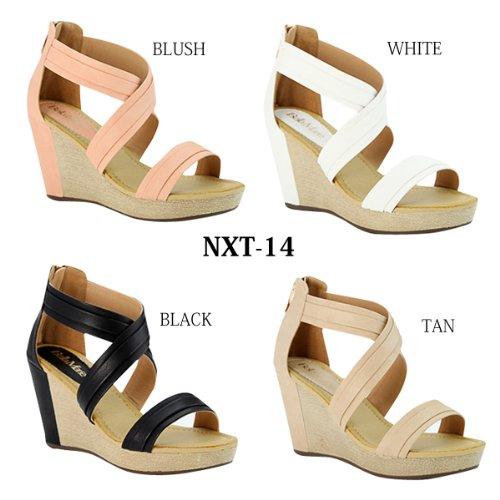 Bellamarie Nxt-14 Sandalo Incrociato Con Cinturino Alla Caviglia Incrociato Con Cinturino Alla Caviglia, Colore: Blush, Misura: 10