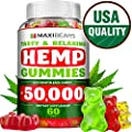 Hemp Gummies 50 000 Mg 833 Mg Per Gummy Stress Insomnia Anxiety Relief Made In Usa Tasty Relaxing Herbal Gummies Premium Extract Mood Immune Support