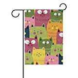 My Daily Funny Cute Cats Colorful Decorative Double Sided House Flag 28 x 40 inch Review