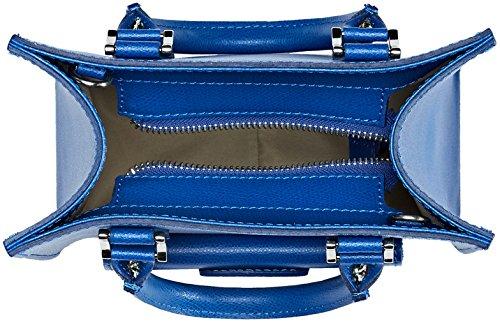 Chicca Borse 8655, Borsa a Mano Donna Blu (Blue)