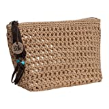 The Sak Classic Accessory Medium Cosmetic (Bamboo with gold), Bags Central