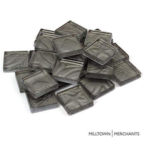 Mosaic Stepping Stones Patterns - Milltown Merchants™ 9/10 Inch (23mm) Gray Crystal Mosaic Tile - Bulk Beach Pattern Glass Mosaic Tiles - 1 Pound (16 oz) Sea Shell Tile Assortment For Backsplash, Stepping Stones, and Mosaics