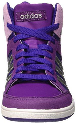 adidas Hoops Mid K, Zapatillas de Deporte Exterior Unisex Bebé Morado / Plateado (Puruni / Plamat / Púrtri)