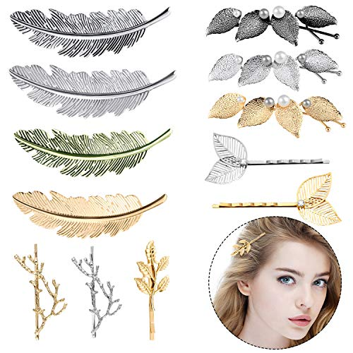 12 Pieces Hair Clips for Women, Tree Branch