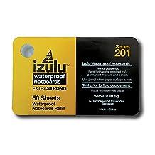 """izulu Waterproof ExtraStrong Notecards Refill Pack 3""""x5"""" Series 201"""
