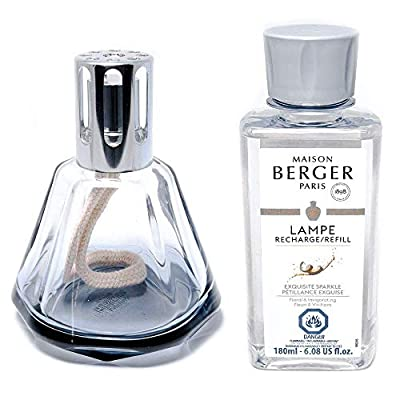 Lampe Berger Giftset - Model Gem - Home Fragrance Diffuser - 8.9x8.1x4.5 inches - Includes Fragrance Exquisite Sparkle - 180 milliliters - 6.08 Fluid Ounces