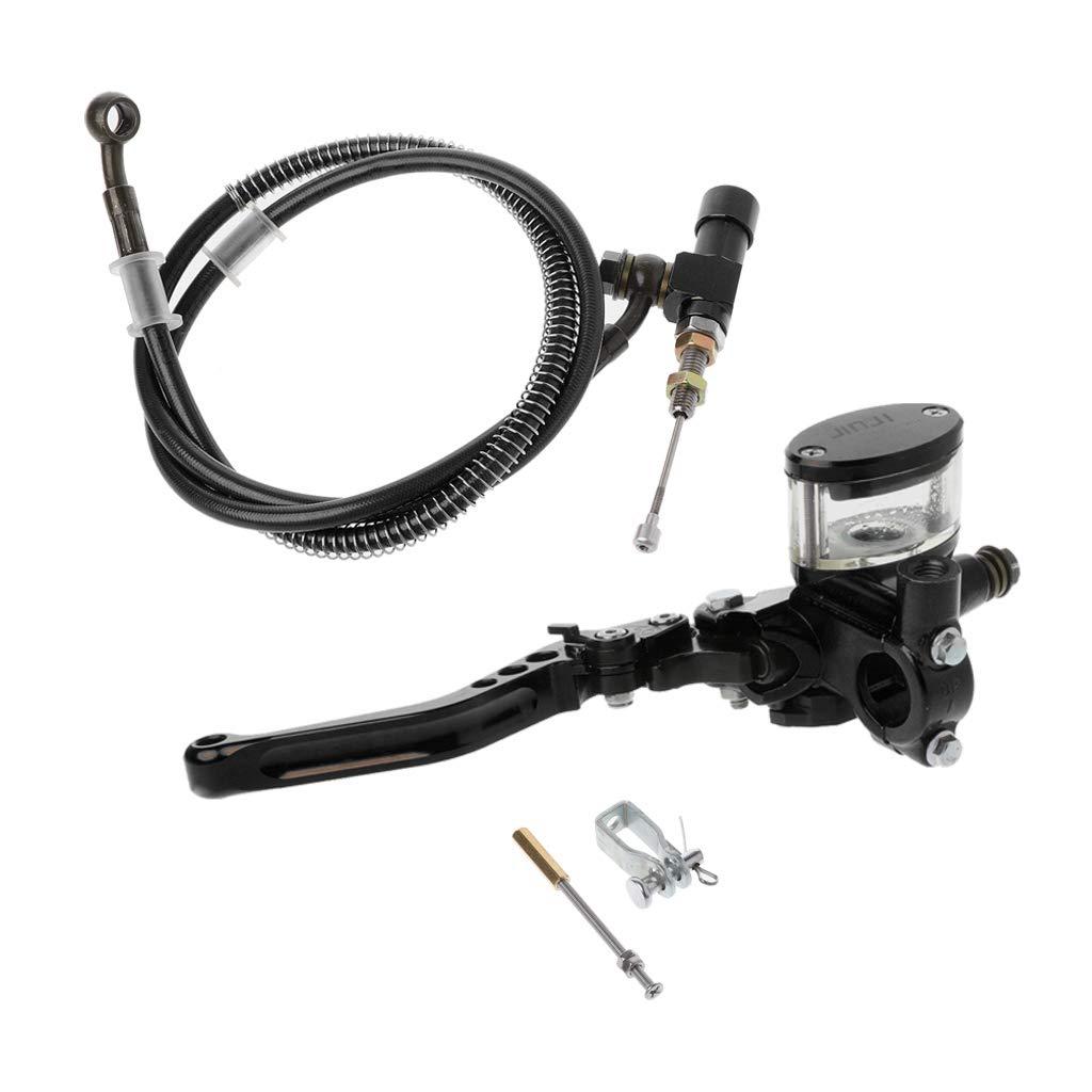 planuuik 7//822mm Motocicleta CNC Kit de Embrague hidr/áulico Palanca Cilindro Maestro Tejido de Aceite Manguera 125~250cc