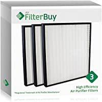 3 - FilterBuy Hunter 30940 Replacement Filters. Designed by FilterBuy to fit Hunter Air Purifier Series 30210, 30214, 30215, 30216, 30225, 30260, 30398, 30400 & 30401.