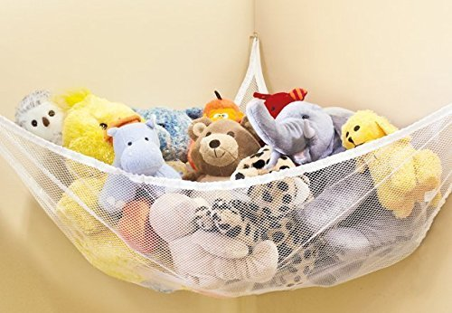 Hilai Large Hammock For Soft Toy Teddy Keep Baby/Children's Bedroom Tidy Mesh Storage Ideal For Nursery Play Corner Hammock