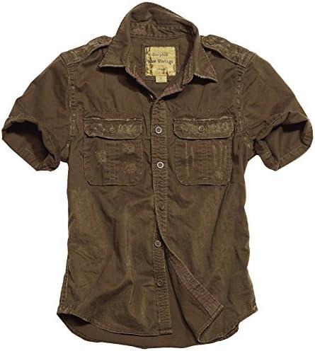 Surplus Raw Vintage manga corta camisa marrón: Amazon.es: Ropa y accesorios