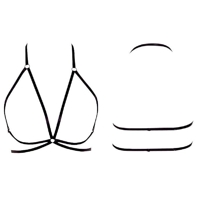 Oudan Sujetador para Mujer Brassiere Elastic Belt Sexy Arnés para Sujetador Cage (Color : Negro, tamaño : L): Amazon.es: Ropa y accesorios