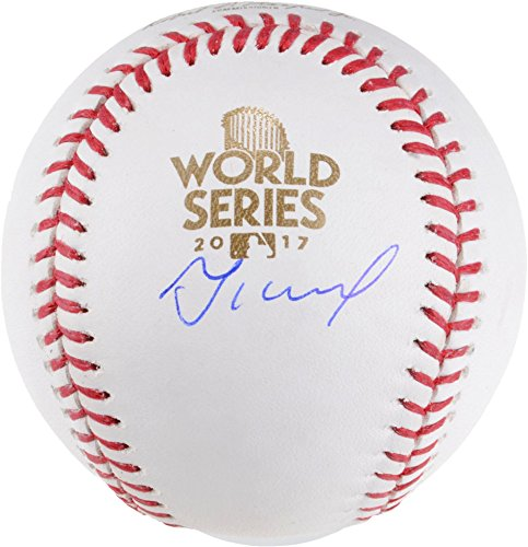 Jose Altuve Houston Astros Autographed 2017 World Series Logo Baseball - Fanatics Authentic Certified