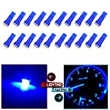 66 mustang body part - cciyu 20x Blue T5 58 70 73 74 0.4W Dashboard Gauge 1-5050 SMD LED Wedge Light Bul Replacement fit for Honda Dodge Acura Subaru Pontiac Jeep (20-Pack)