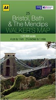 ?BEST? Walker's Map Bristol, Bath & The Mendips. zaguero siglas MUJER ejercita current acompana