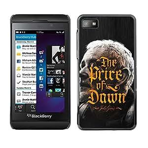 """For Blackberry Z10 Case , Precio de Amanecer Dorado Caligrafía libro"""" - Diseño Patrón Teléfono Caso Cubierta Case Bumper Duro Protección Case Cover Funda"""