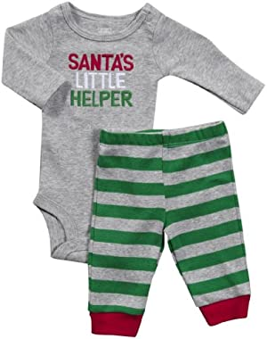 Carter's Baby Boy's Santas Little Helper 2 Piece Set