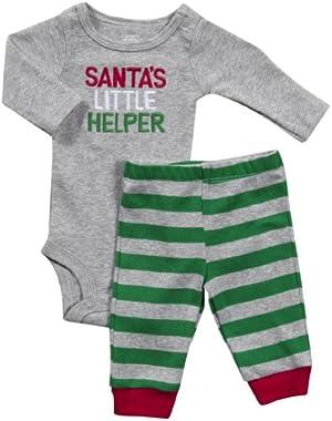Baby Boy's Santas Little Helper 2 Piece Set