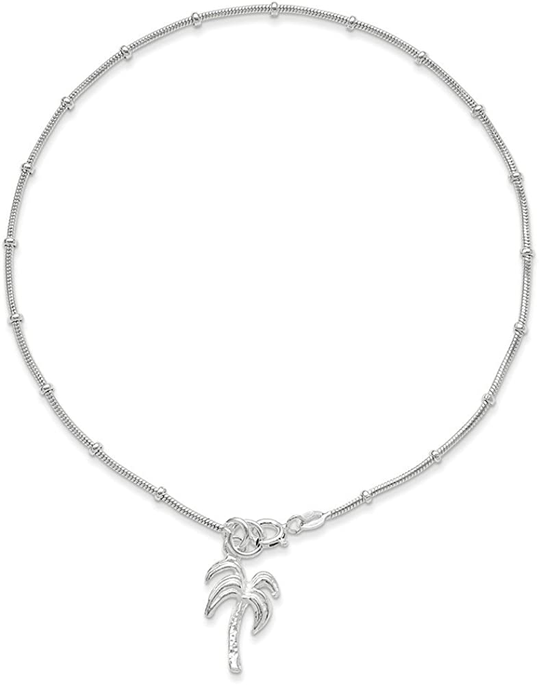 Goldia Sterling Silver Palm Tree Anklet