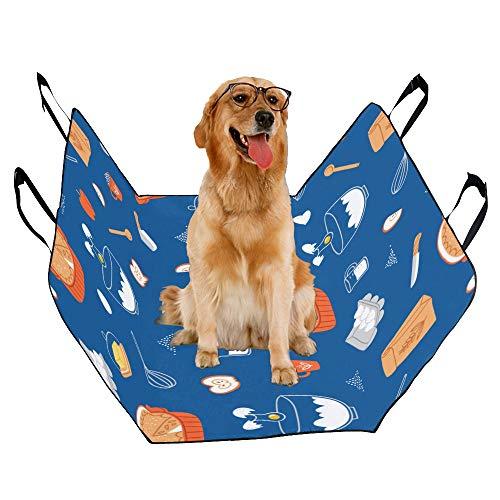 JTMOVING Fashion Oxford Pet Car Seat Egg Tart Dessert Food Fast Food Idea Waterproof Nonslip Canine Pet Dog Bed Hammock Convertible for Cars Trucks SUV -