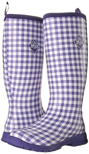 MuckBoots Women's Breezy Tall-W, Purple Gingham, 6 M US by Muck Boot (Image #6)