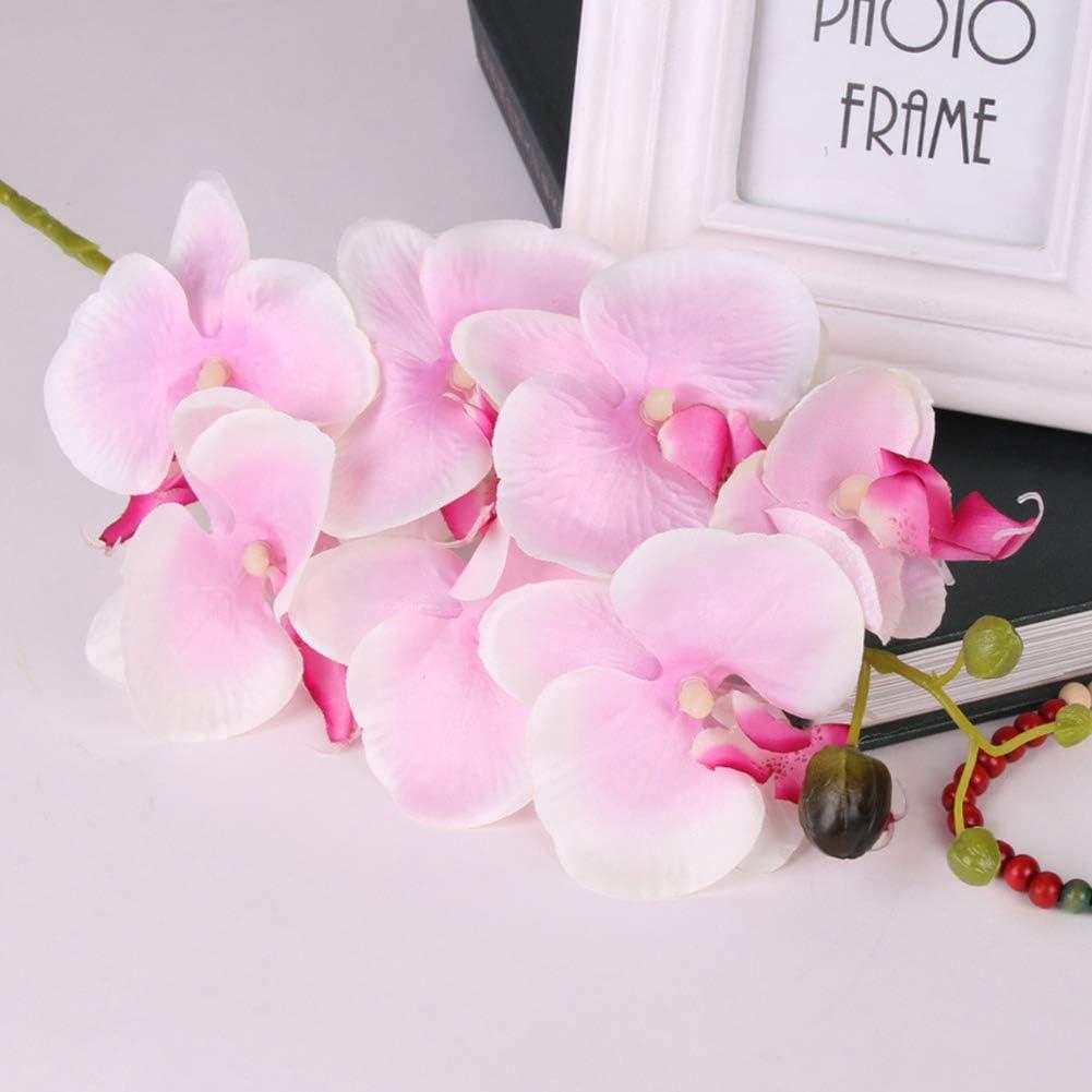 ZqiroLt Fiore Artificiale Bella 1Pc Orchidea di Seta Artificiale Farfalla Fai da Te Decorazioni per Mobili da Desktop per Matrimoni Azzurro