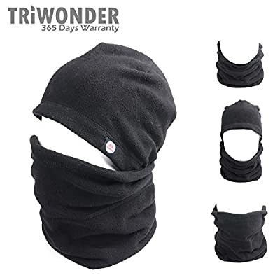 Triwonder 6 in 1 Thermal Fleece Balaclava Hood Police Swat Ski Bike Wind Stopper Mask