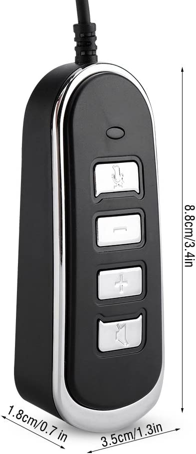 USB Telephone Computer Handset Audio Adaptor Stereo Audio Conversion Line Phone RJ9 to USB Audio Headphones Converter