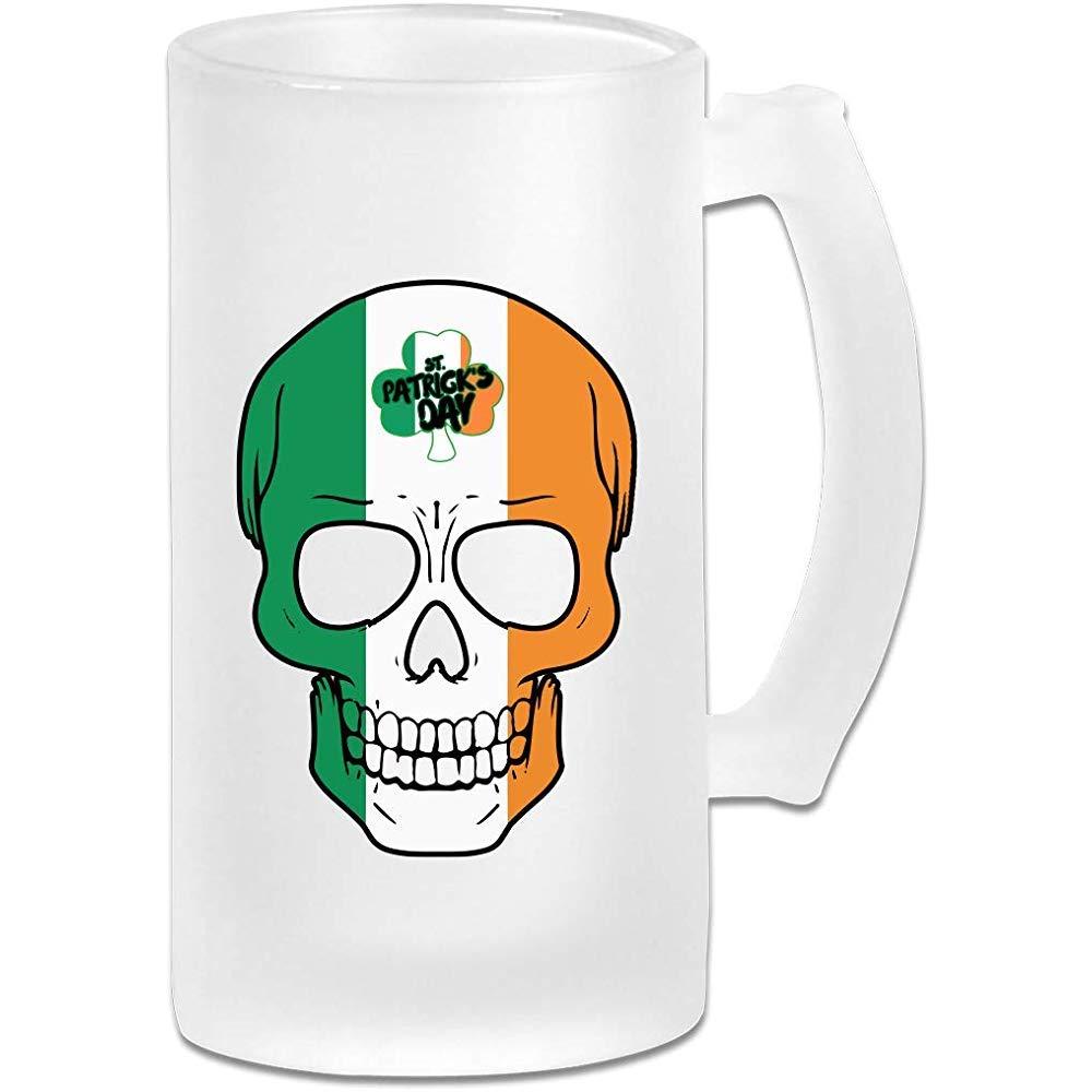 Cráneo irlandés Día de San Patricio DIY Imprimir Vidrio Cerveza ...