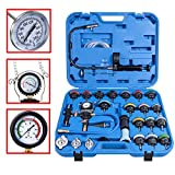 28PCS Universal Radiator Pressure Tester Leak Checker Vacuum Type Cooling System Automotive Radiator Pressure Test Kit Purge and Refill Kit Set w/Carrying Case