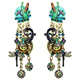 Lunch At The Ritz Swamp Song Dangle Clip Earrings Rare from Esme's Vault