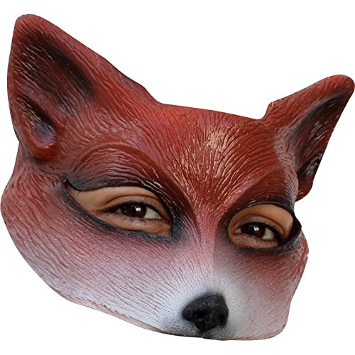 Fox Latex Half Mask Adult - one Size