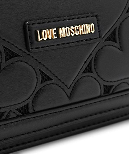Love Moschino Women's Leather Fold Over Clutch Bag One Size Black by Love Moschino (Image #3)