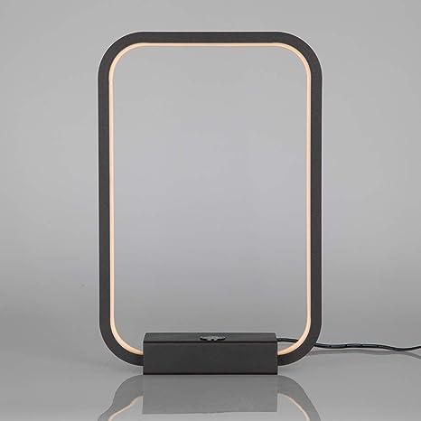 Lámpara de mesa cuadrada Lámpara de escritorio regulable táctil ...
