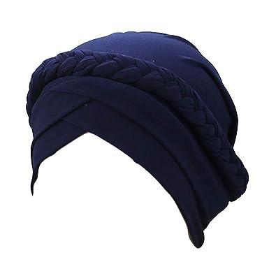Topassion - Gorro de algodón Suave para Mujer Azul Azul ...
