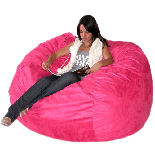Cozy Sack 5-Feet Bean Bag Chair, Large, Hot Pink