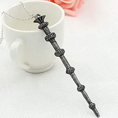 YoZhanhua Aleación Magic Wand Collar Llavero (A6) Dumbledore ...