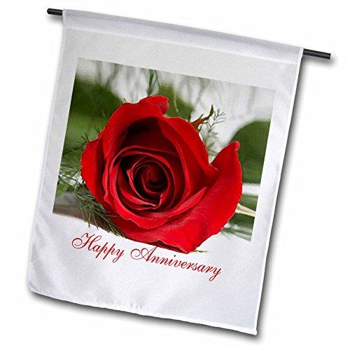 3dRose fl_3655_1 Happy Anniversary, Garden Flag, 12 by - Anniversary Garden