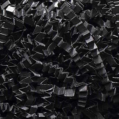 1/2 LB Crinkle Cut Paper Shred - Black - Gift Basket Filling by Uline [Kitchen] ()