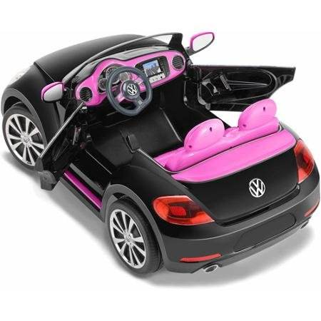 amazoncom vw beetle convertible 12 volt battery powered ride on by kid trax toys games