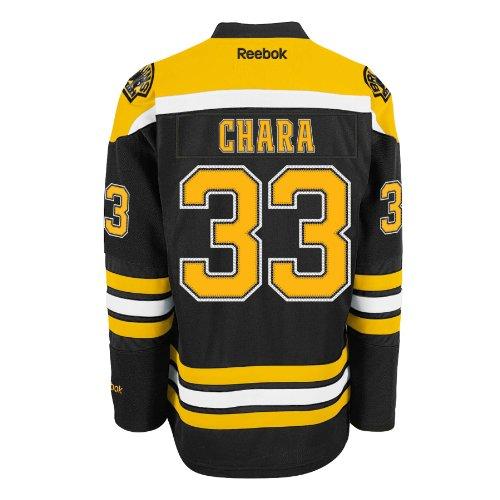 (Zdeno Chara Boston Bruins Reebok Premier Replica Home NHL Hockey Jersey - Size Small )