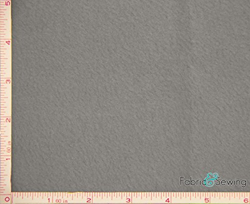 Light Grey Anti-Pill Polar Fleece Fabric Polyester 13 Oz 58-60