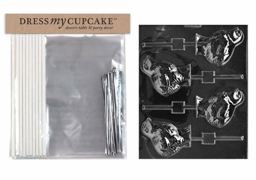 Dress My Cupcake DMCKITE028 Chocolate Candy Lollipop Packagi
