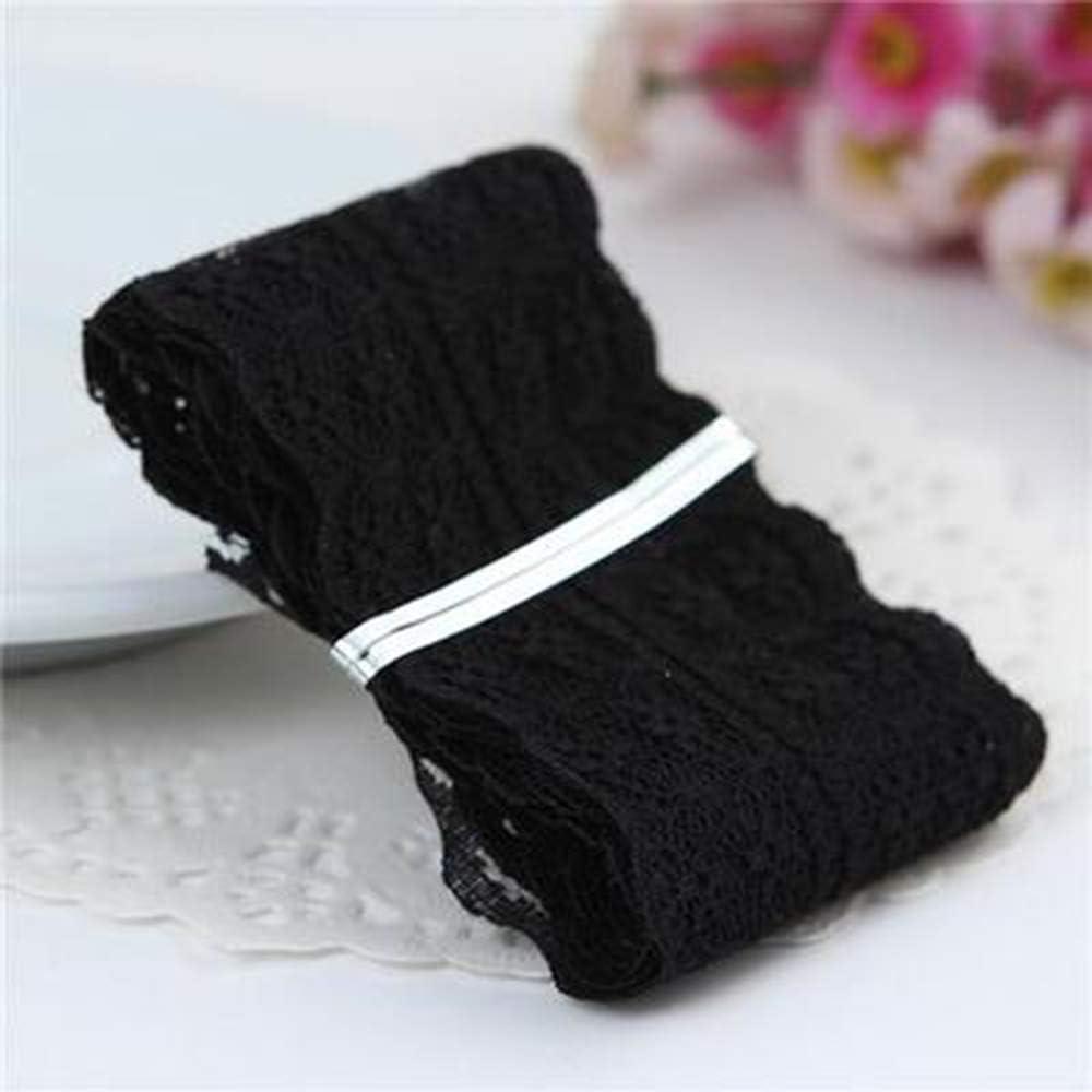 Fliyeong 1 Pcs Dentelle Applique Pendaison Garnitures V/êtements Nuptials Convient pour Le Mariage DIY D/écorations Noir