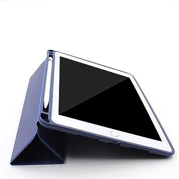 PINHEN Funda para iPad Pro 10.5 con Soporte Incorporado de Apple Pencil - Ligero TPU Suave Contraportada y Soporte Triple con Auto Sueño/Estela para ...