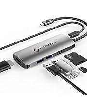"""NOVOO USB C HUB avec Power Delivery 60W, USB-C vers USB 3.0 5Gbps 4K HDMI pour MacBook 12"""" MacBook Pro (6P en 1)"""