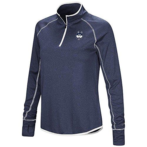 (Womens UConn Connecticut Huskies Quarter Zip Long Sleeve Shirt -)