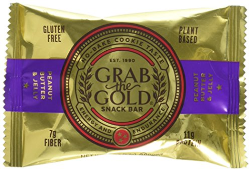 (Grab The Gold Gluten Free Snack Bar, Peanut Butter & Jelly, 12 Count)